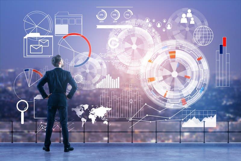 技术、逻辑分析方法和财务概念 免版税库存照片