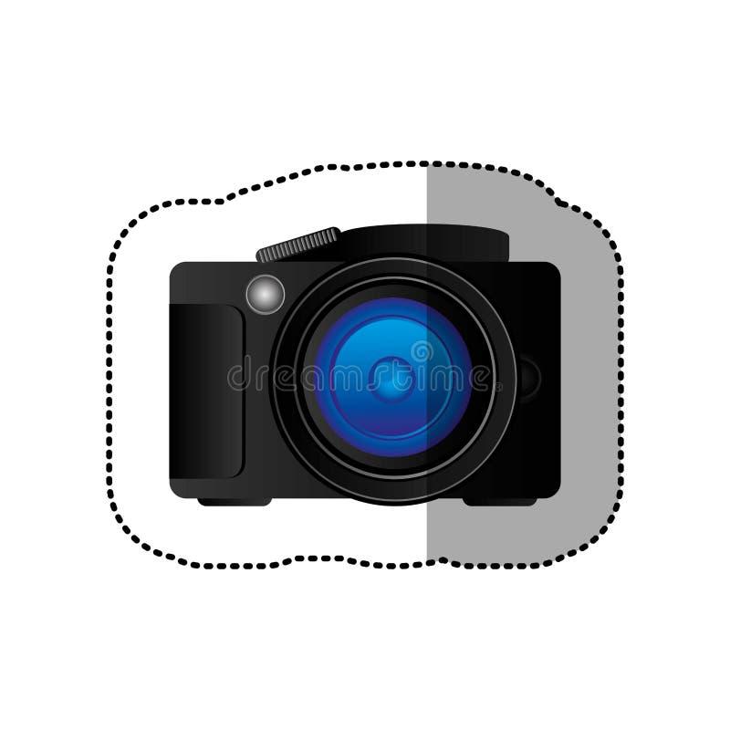 黑技术专业照相机象 库存例证