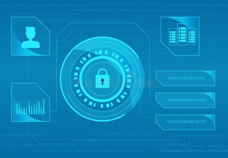 技术互联网网络安全设计背景 向量例证