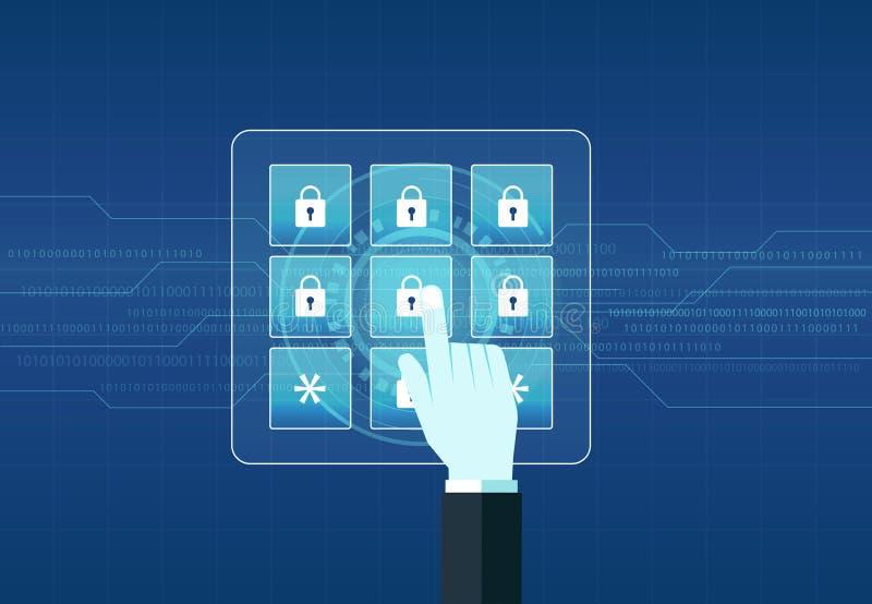 技术互联网网络安全设计背景 库存例证