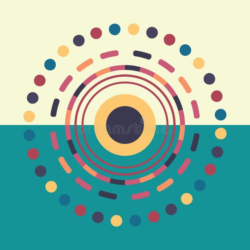 技术五颜六色的圆的背景 抽象数字例证 传染媒介eps10连接概念 电子回合 向量例证