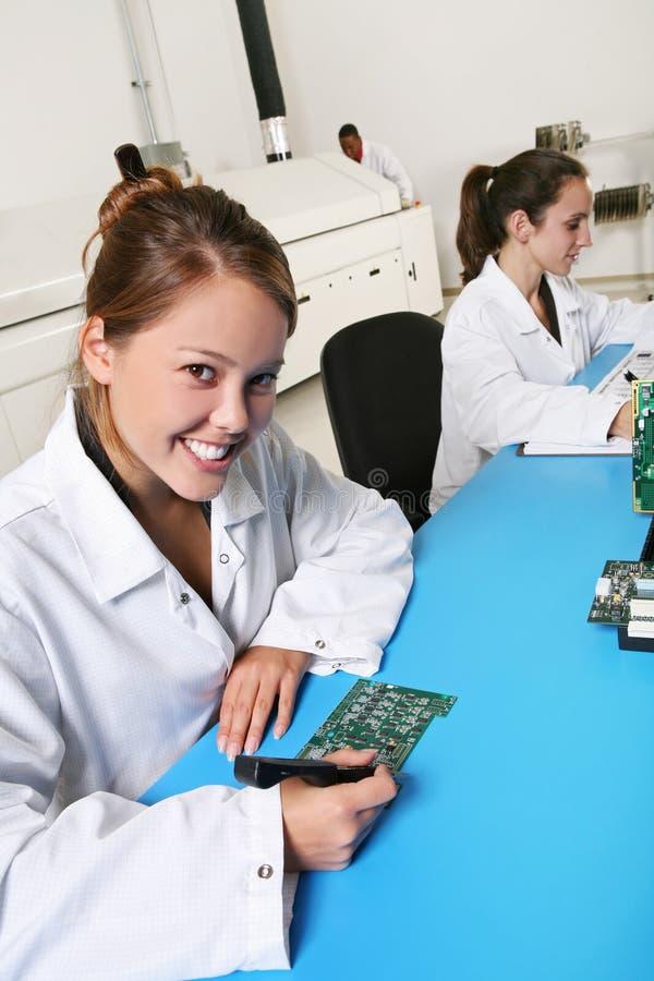 技术人员妇女 库存照片