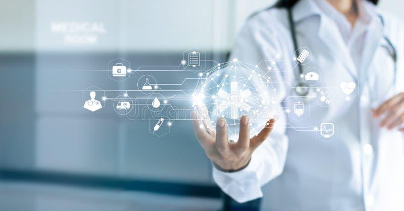 技术创新和医学概念 免版税库存照片