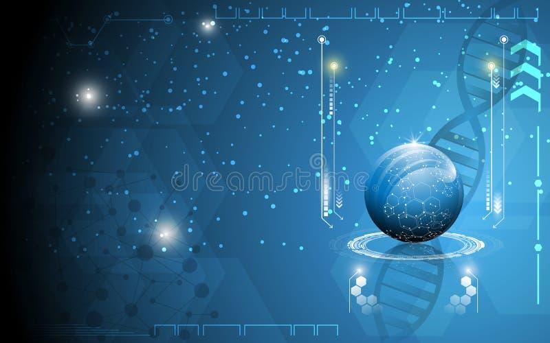 技术创新科学概念背景 向量例证