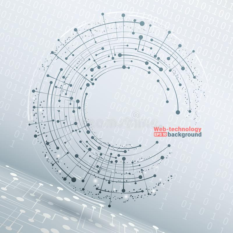 技术发展和通信 向量 3d企业或科学介绍的几何传染媒介背景 库存例证