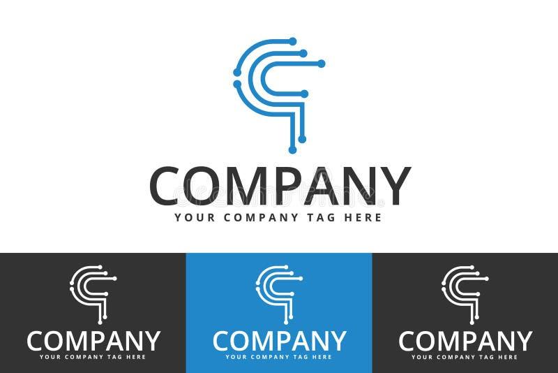 技术和企业商标 向量例证