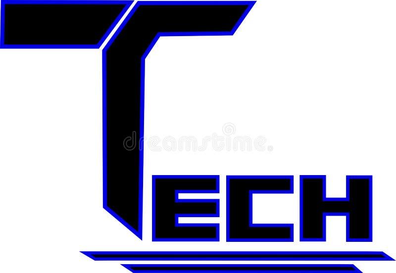 技术商标黑和蓝色颜色 免版税库存照片