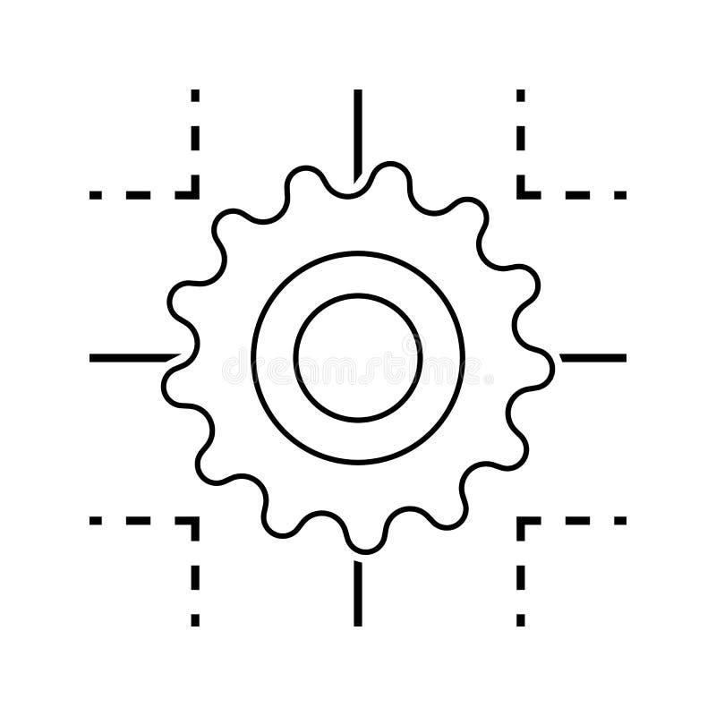 技术处理象 网络安全的元素流动概念和网应用程序象的 网站设计的稀薄的线象和 向量例证