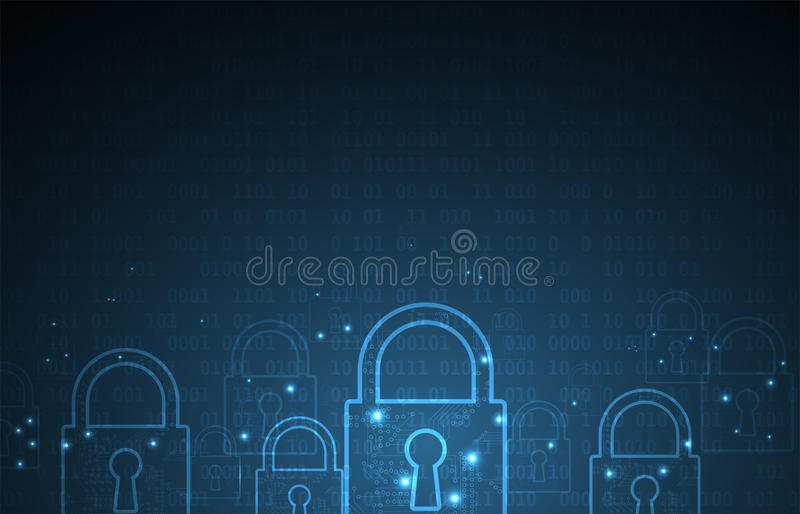 技术安全概念 现代安全数字式背景 库存例证