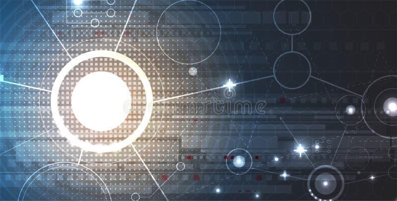 技术安全概念 现代安全数字式背景 向量例证