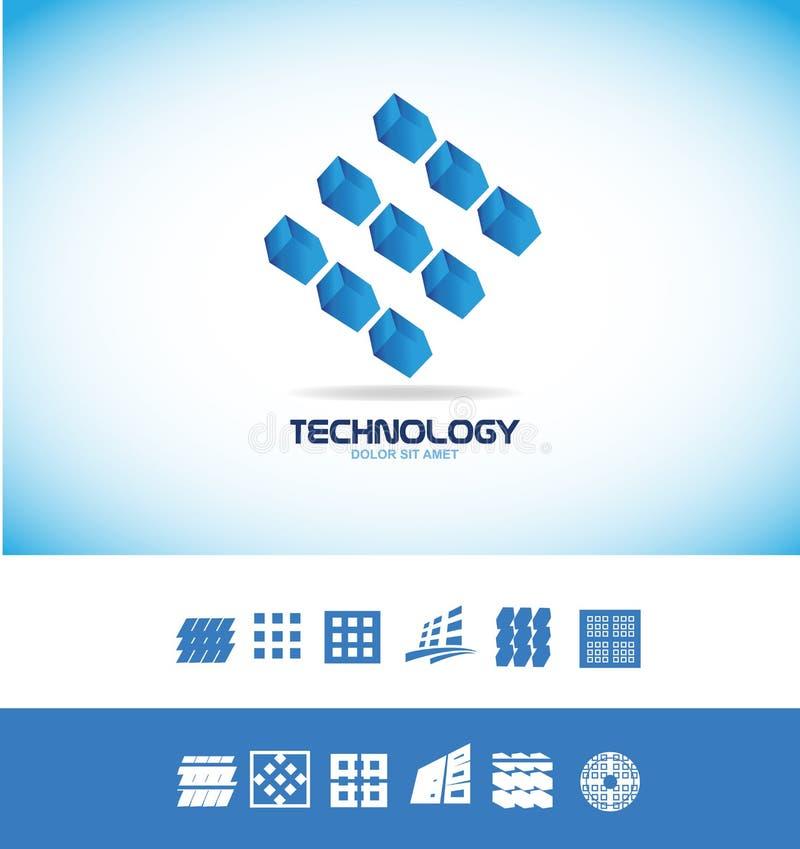 技术微集成电路商标 向量例证