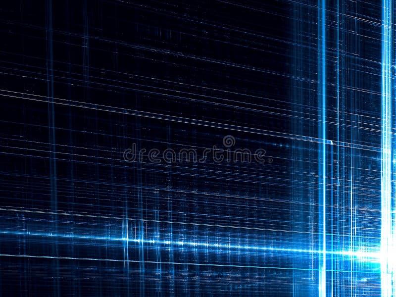 技术或科学幻想小说背景-提取数位引起的图象 库存例证