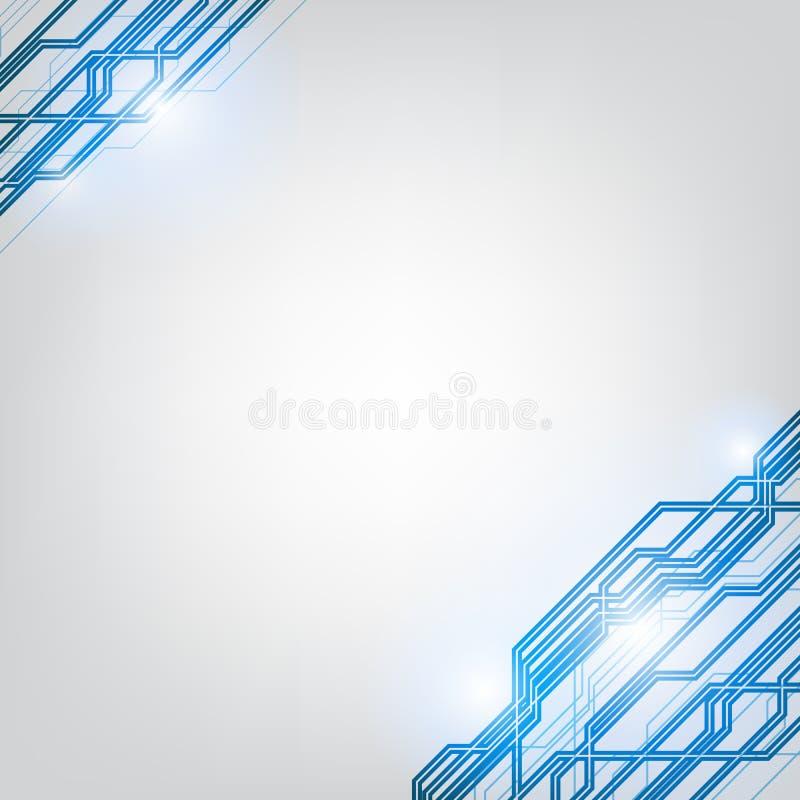 技术抽象背景 结构方形的样式后面 皇族释放例证