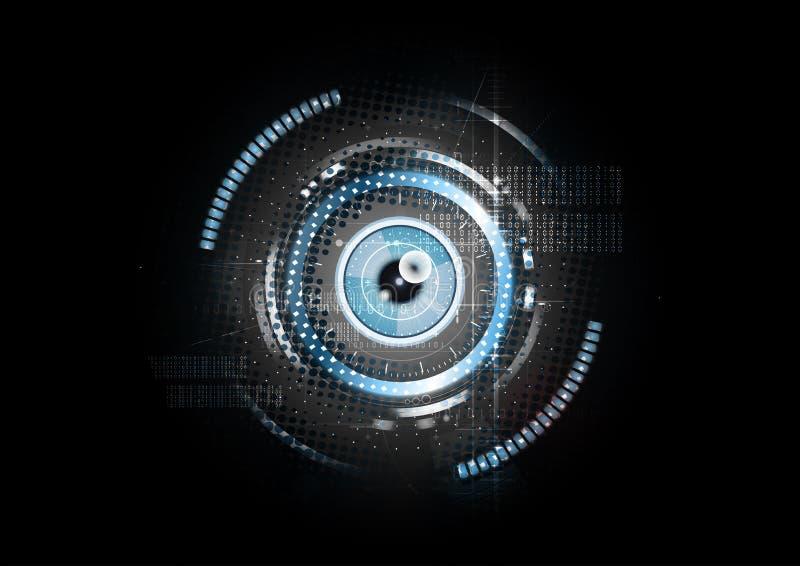 技术抽象视网膜扫描概念背景传染媒介 库存例证