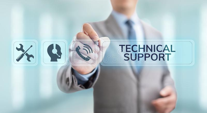 技术支持客服保证质量管理概念 免版税图库摄影
