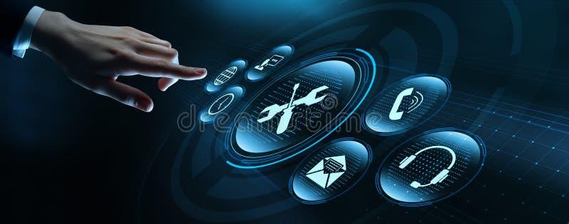 技术支持客服服务业技术互联网概念 免版税库存照片