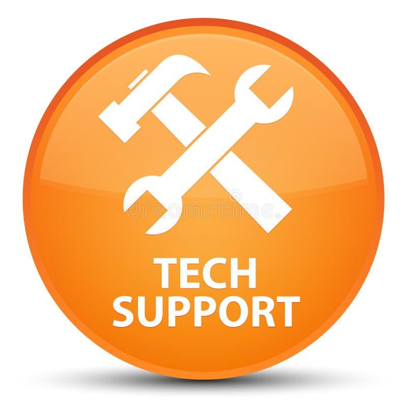 技术支持(工具象)特别橙色圆的按钮 库存例证