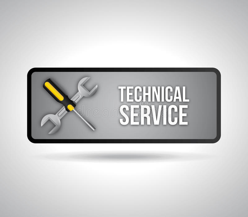 技术支持 库存例证
