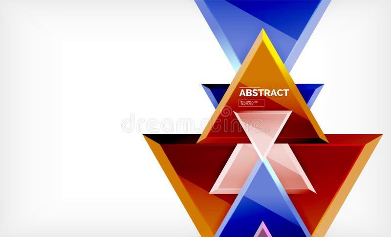 技术未来派几何3d塑造,最小的抽象背景 皇族释放例证