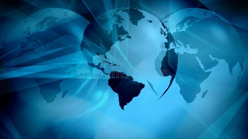 技术未来派网络世界安全 向量例证