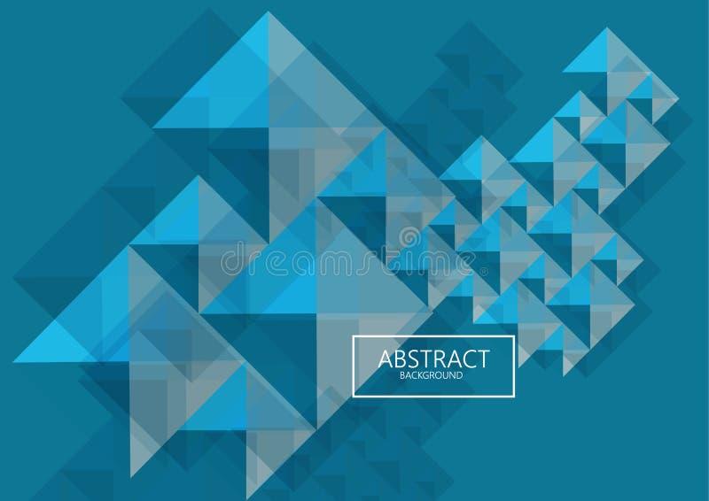 技术未来派geometrics多彩多姿的形状抽象背景 高科技海报盖子 皇族释放例证