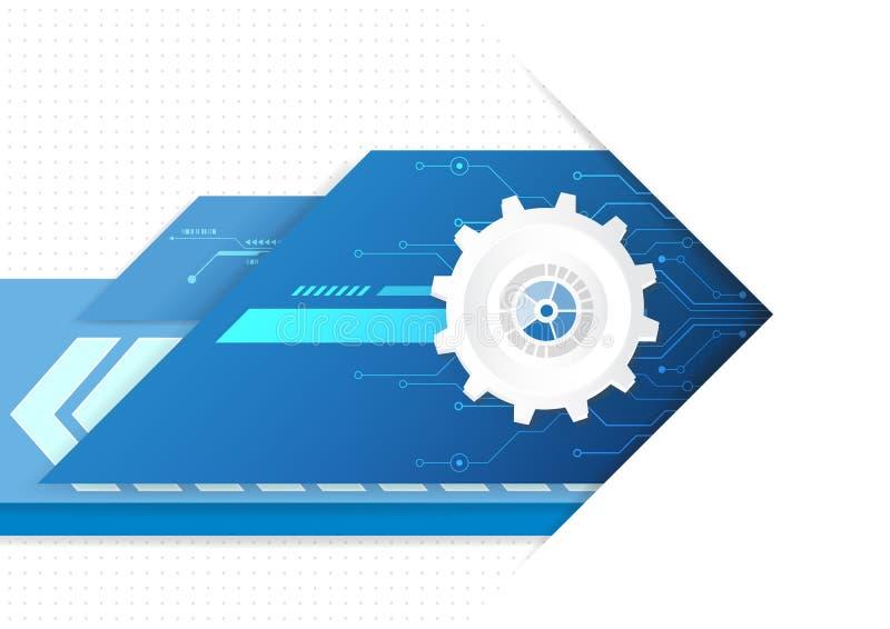 技术未来派数字式,技术图形设计 皇族释放例证