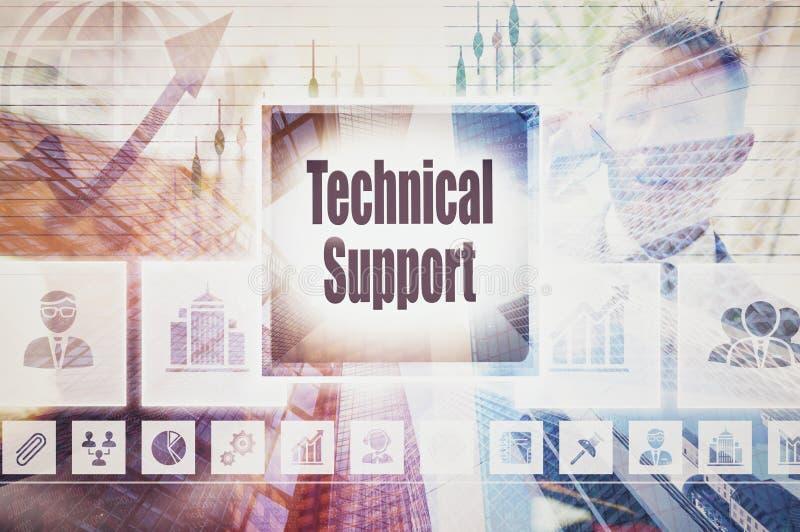技术概念的技术支持 免版税库存照片