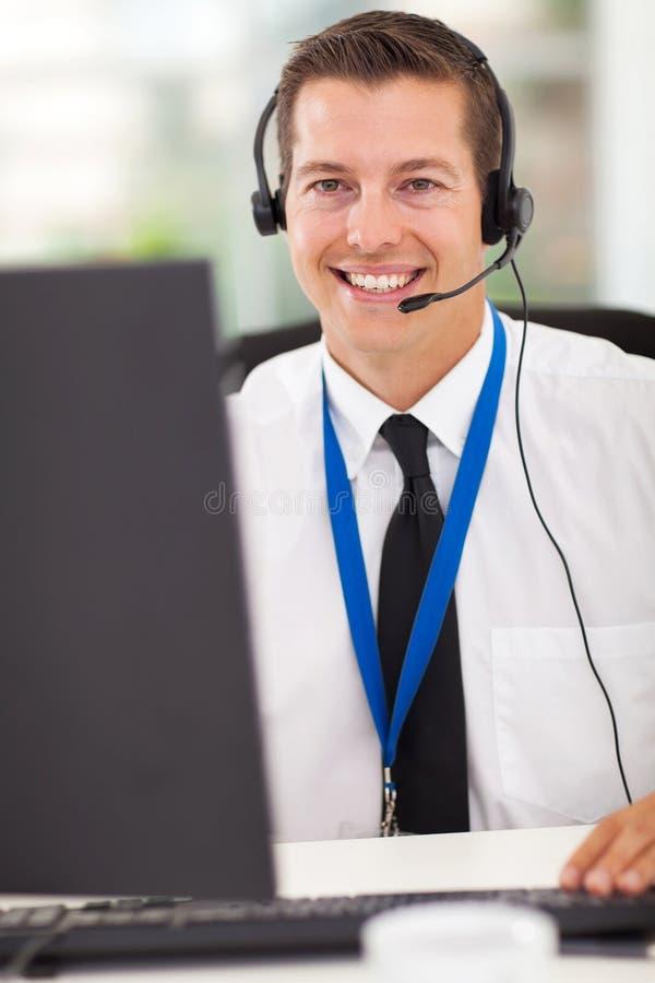 技术电话中心 免版税库存照片