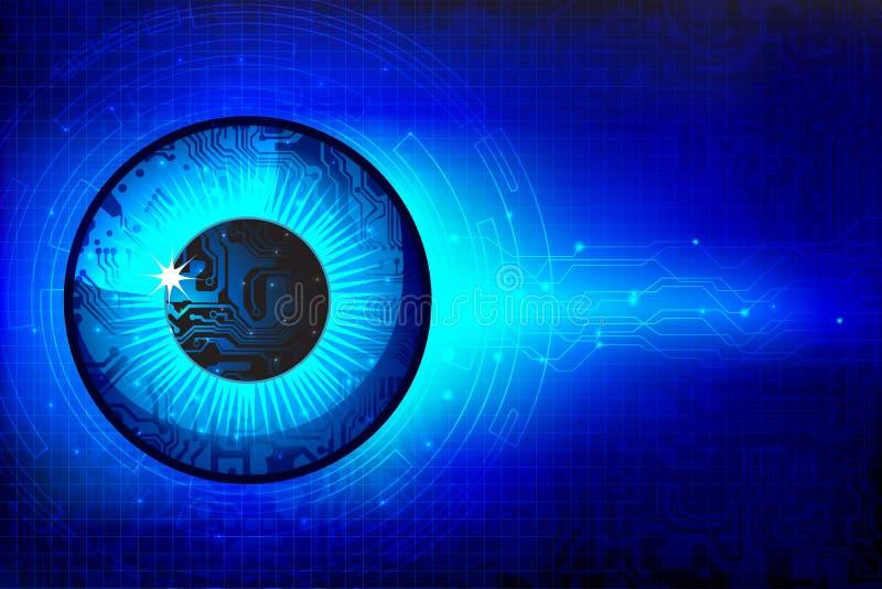 技术的眼睛 向量例证