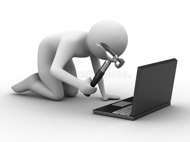 技术的计算机维护 库存例证