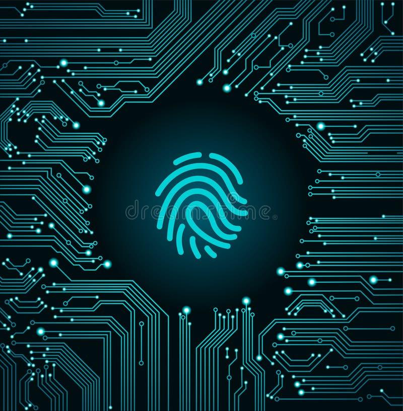 技术网络安全 库存例证