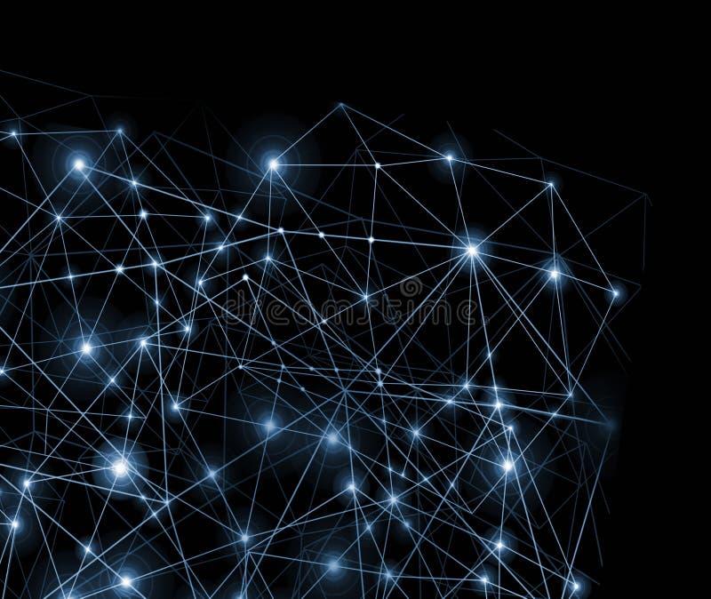 技术背景,全球企业互联网概念  互联网连接、摘要科学技术 向量例证