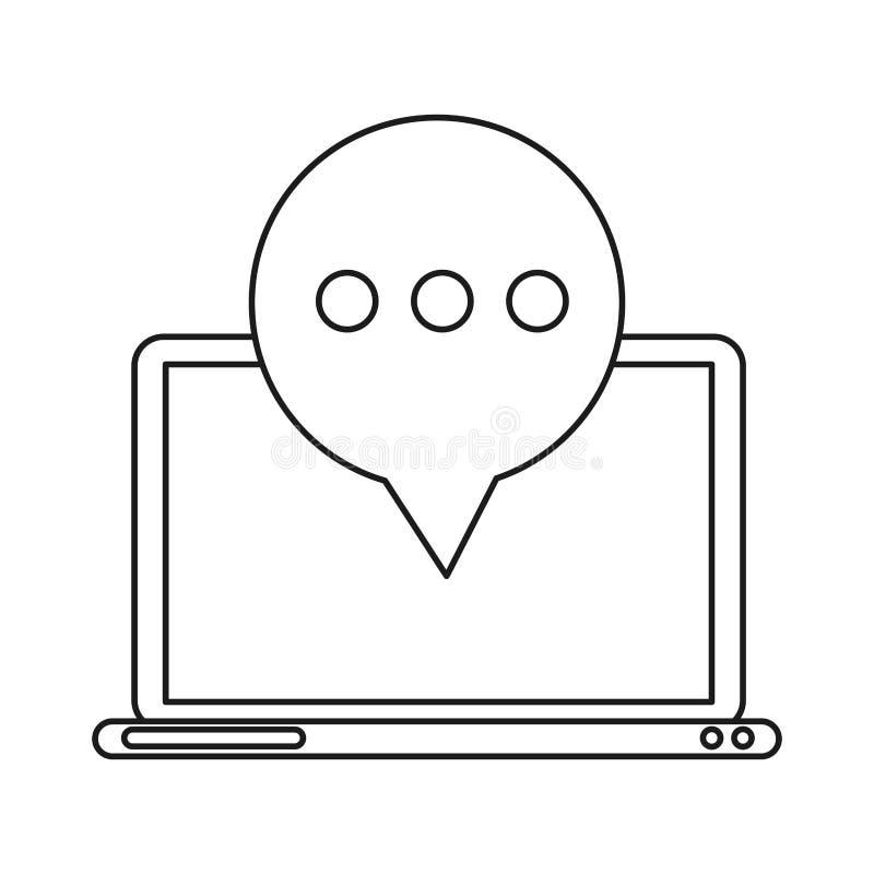 技术膝上型计算机邮件泡影讲话概述 皇族释放例证