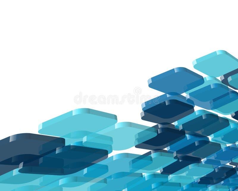 技术蓝色背景 库存例证