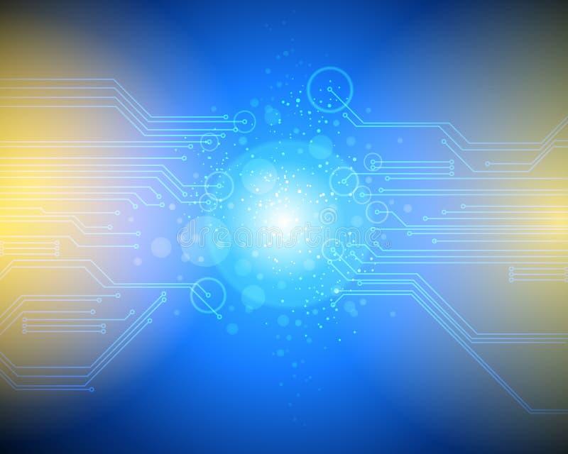 技术计算机连接 皇族释放例证