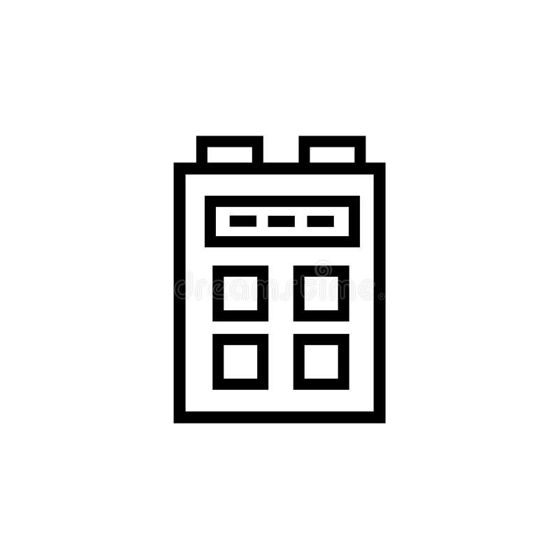 技术象在白色背景和标志隔绝的传染媒介标志,技术商标概念 向量例证