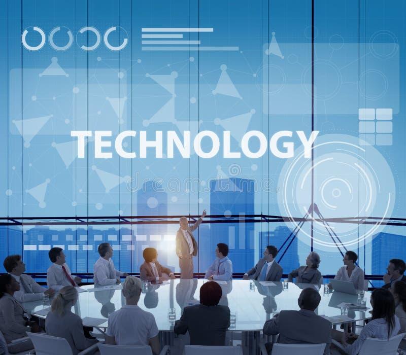 技术连接创新互联网通信概念 库存图片