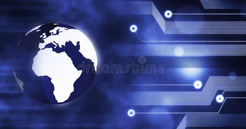 技术,地球地球用想法和概念,训练,企业背景连接了创新 皇族释放例证
