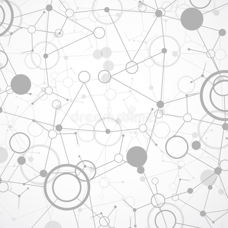 技术/科学通信背景 向量例证