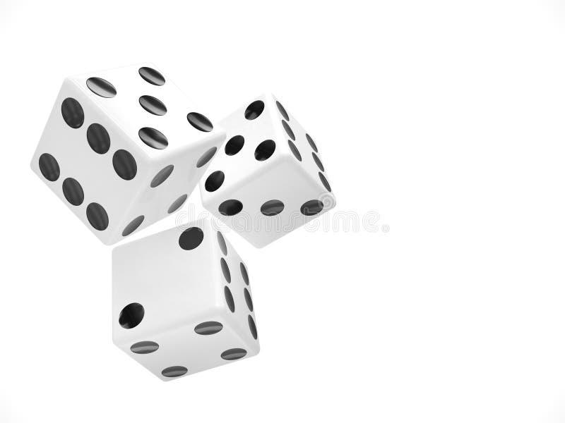 把三白色切成小方块 向量例证