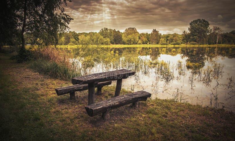 把偏僻的公园换下场 库存图片