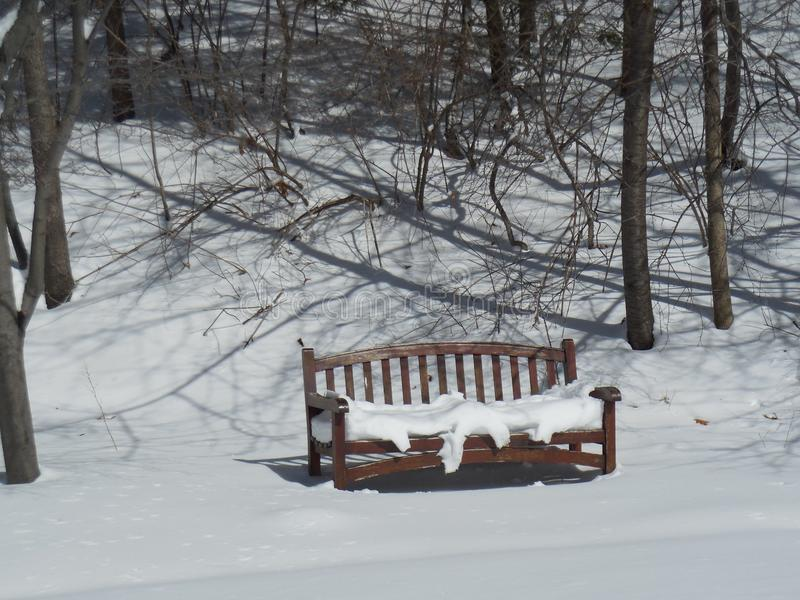 把包括的雪换下场 免版税库存图片