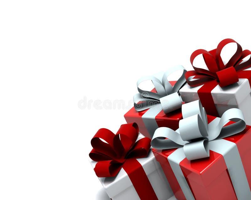 把圣诞节礼品装箱 向量例证