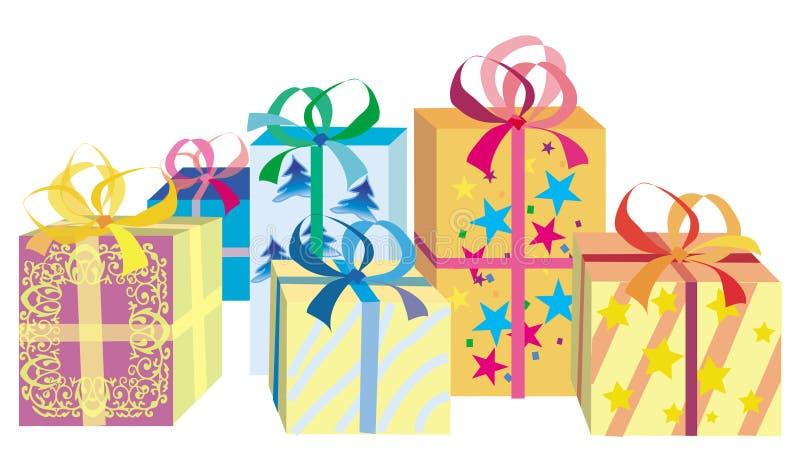 把圣诞节礼品装箱 皇族释放例证
