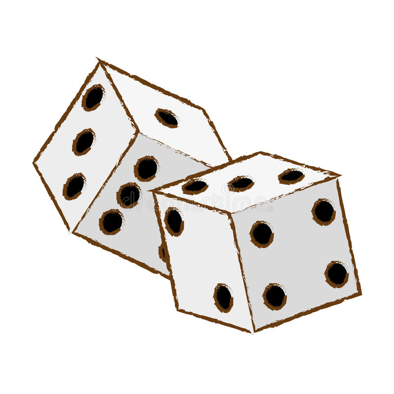 把对切成小方块 库存例证