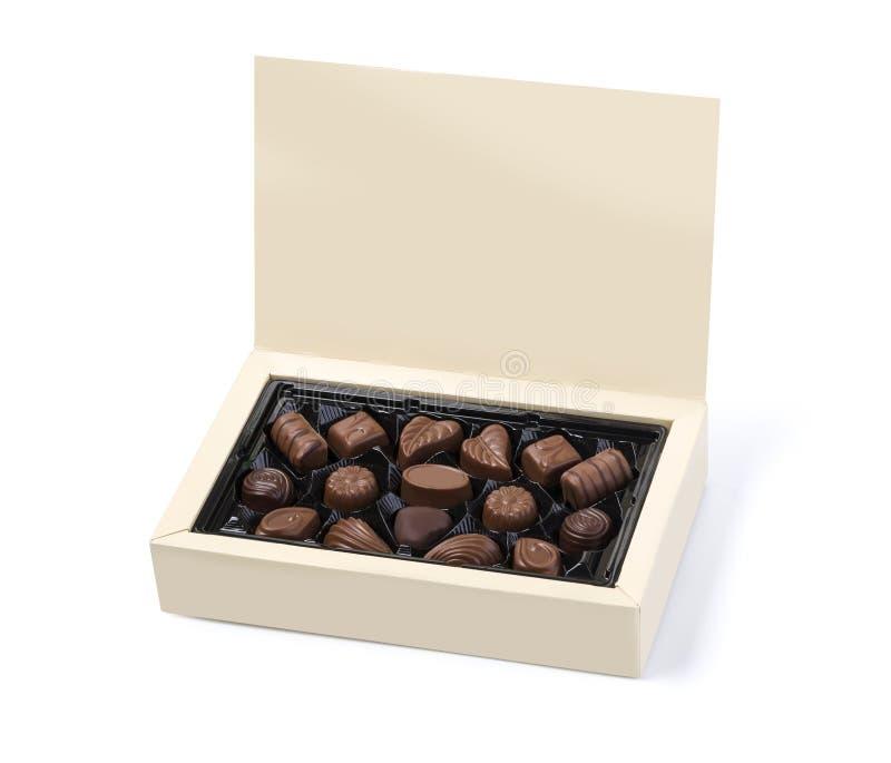 把巧克力装箱 免版税图库摄影
