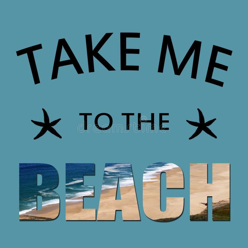 把我带对海滩 皇族释放例证