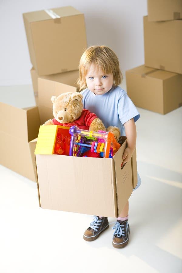 把我的s玩具装箱 免版税库存图片