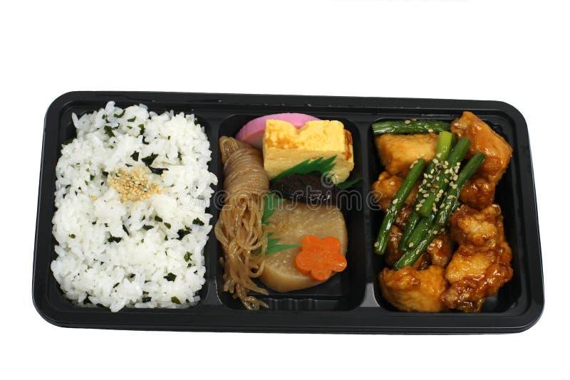 把日本午餐装箱 免版税库存照片