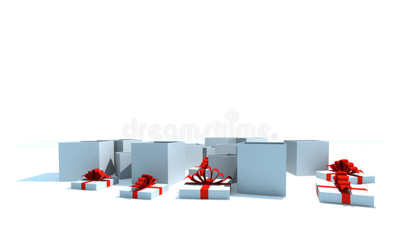 把查出的礼品装箱 库存例证
